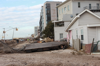 The aftermath of Sandy in Rockaway Beach...