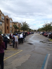 Voting lines in Orlando, FL