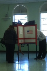 Voters cast their ballots in New York