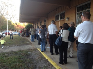 Voting lines in Debary, Fl