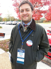 Guy from Obama campaign in Virginia at polls
