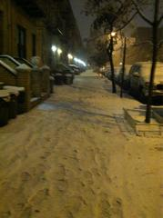 Snow in Astoria