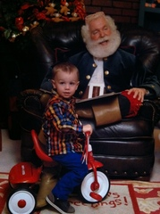 Merry Christmas from Maddox and Santa