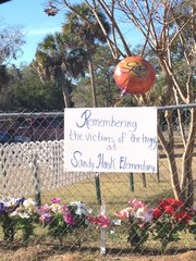 Small town Perry, Florida memorial to Sandy Hook Elementary