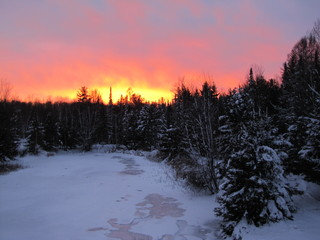 December 22nd, 2012 -  Sunset in Vulcan, Michigan