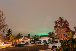 Green Tinge to southern California sky
