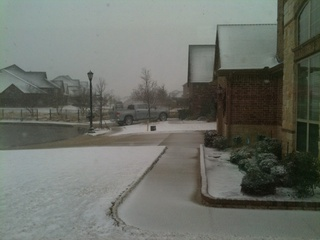 Snow in Fort Worth