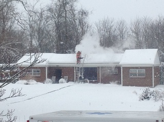 Chimney Fire at house in Connersville, IN