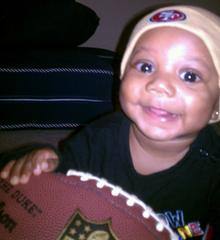 Mini 49ers fan