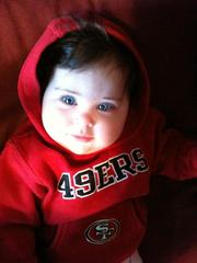 Cutest 49ers fan