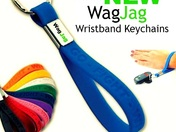 The all NEW WagJag Wristband Keychains!