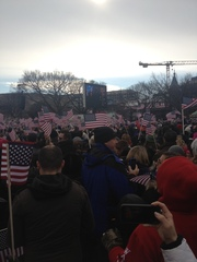 Huge crowds at Inauguration