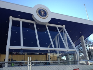 Setting up for Inauguration 2013