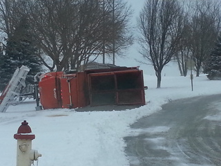 Snow plow crash