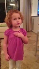 Pledge of Allegiance from a 3 year old
