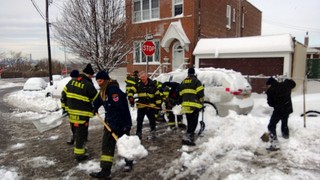 FDNY helps shoveling