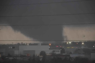 Tornado in Hattiesburg, MS